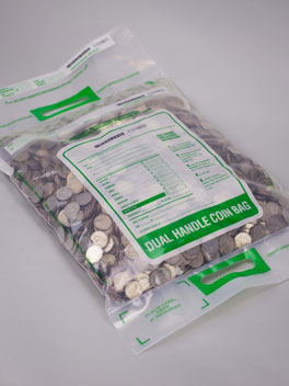 Tamper Evident Dual Handle Coin Deposit Bag